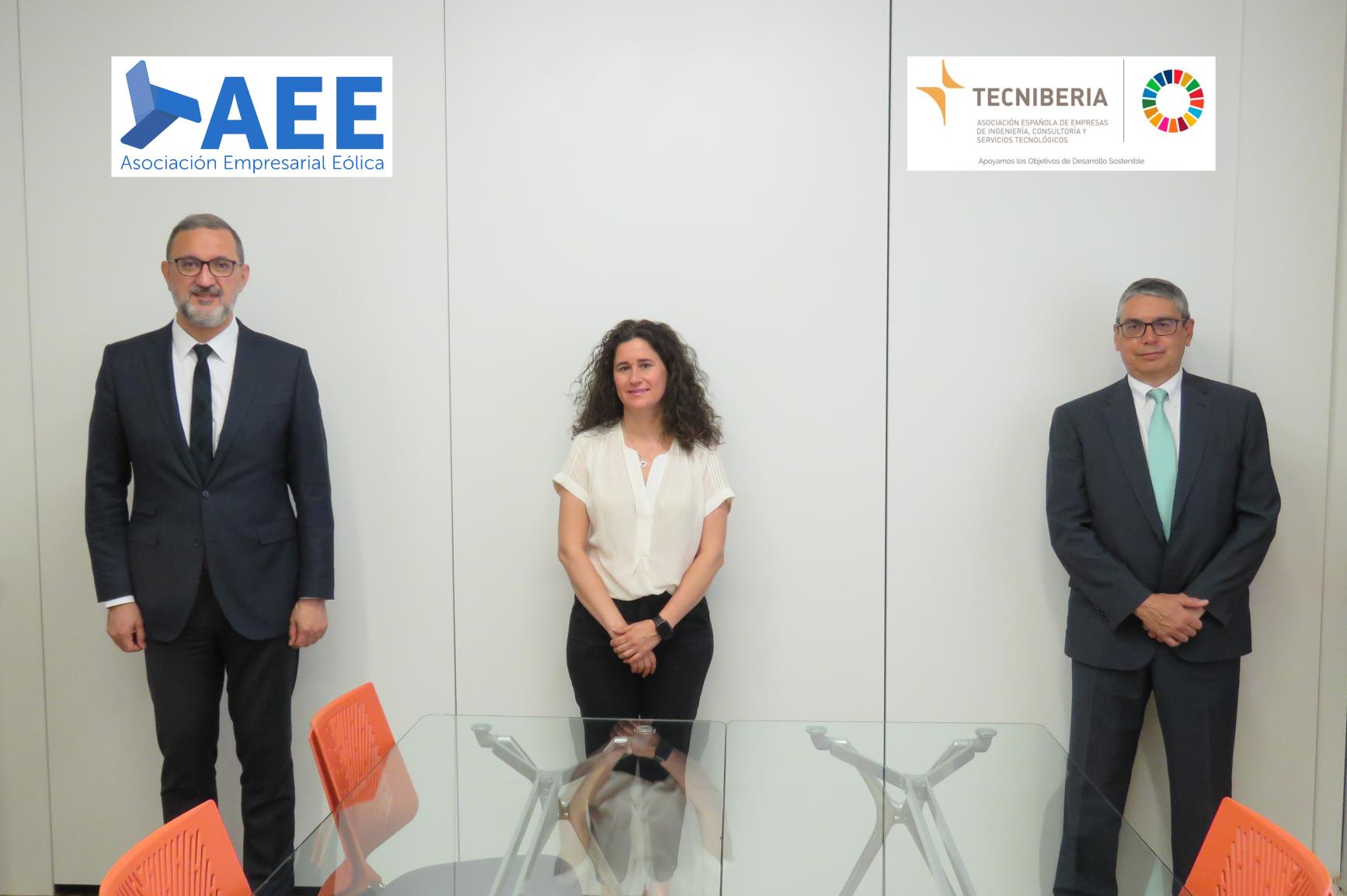 TECNIBERIA y AEE firman un convenio de colaboración para impulsar acciones que ayuden a la proyección de las empresas españolas en el ámbito de la energía eólica